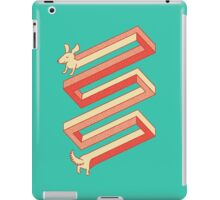 Physics doesn't apply to weiner dogs iPad Case/Skin
