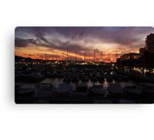 Sunset over San Antonio Canvas Print