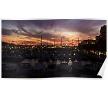 Sunset over San Antonio Poster