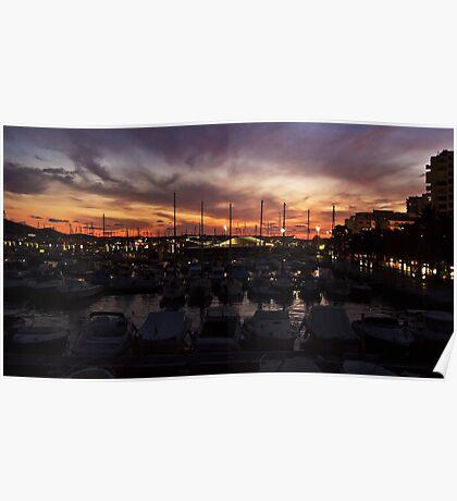 Sunset over San Antonio Poster