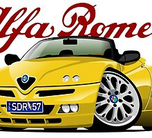 Alfa Romeo 916 Spider personalized for Steve by car2oonz