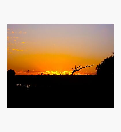 African Sunset Photographic Print