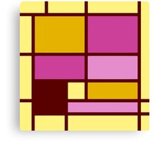 Mondrian style design yellow fuchsia Canvas Print
