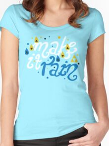 Song of Storms - Make It Rain Women's Fitted Scoop T-Shirt