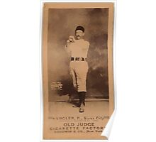 Benjamin K Edwards Collection Hungler Sioux City Team baseball card portrait Poster