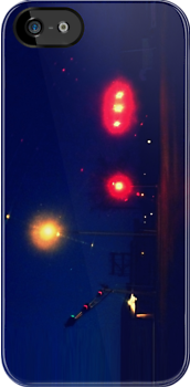 Traffic Lights iphone by Margaret Bryant
