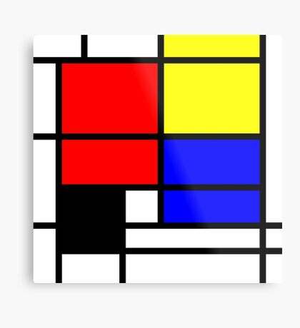 Mondrian style design in basic colors Metal Print