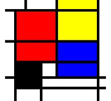 Mondrian style design in basic colors Photographic Print