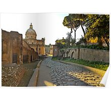 One of the many ancient historical places to see in the city of Rome Poster