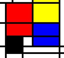 Mondrian style design in basic colors by aapshop