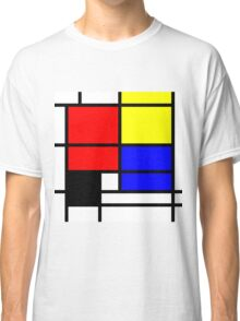 Mondrian style design in basic colors Classic T-Shirt