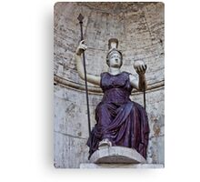 Statues at a Piazza Canvas Print