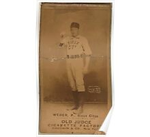 Benjamin K Edwards Collection Count Weber Sioux City Team baseball card portrait Poster