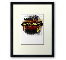 Moriarty was real (fire) Framed Print
