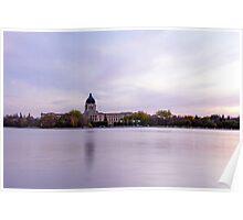 Saskatchewan Legistlative Building over Wascana Lake Poster