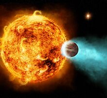 Beautiful Exoplanet Burning Up Near Sun by pdgraphics