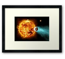 Beautiful Exoplanet Burning Up Near Sun Framed Print