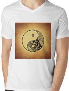 Yin and Yang Mens V-Neck T-Shirt
