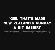 Scotty Stevenson's quote on New Zealand winning the 2015 Rugby World Cup by MHen