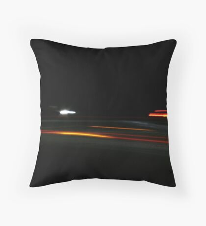 Digital cars go by Throw Pillow