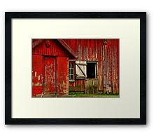 """ When Only 1/2 of a Door Opens ......... Framed Print"