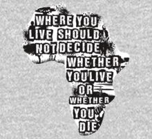 Where You Live - Africa (white) One Piece - Long Sleeve