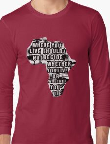 Where You Live - Africa (white) Long Sleeve T-Shirt