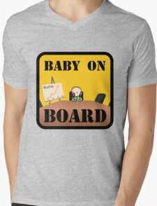 Baby on (Corporate) Board Mens V-Neck T-Shirt