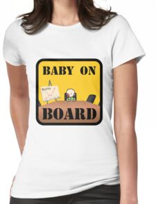 Baby on (Corporate) Board Womens Fitted T-Shirt
