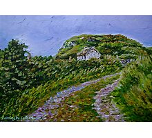 """""""Ruined Cottage near Kinny Lough, Magheradrumman, Fanad, Donegal."""" Photographic Print"""
