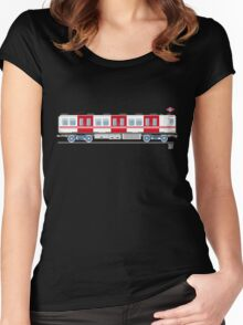Metro Madrid - Serie 2000 Women's Fitted Scoop T-Shirt