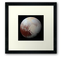 Colorful Surface Terrain of Pluto Framed Print