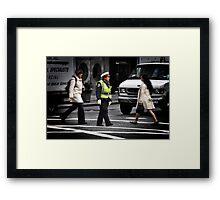 Police Calm Framed Print