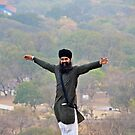 Flying high at Golconda Fort by Carl LaCasse
