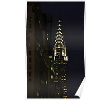 Chrysler Building at Night Poster