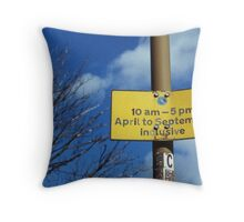 April To September Inclusive Throw Pillow
