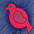 Pink Bird on a Walk by Jacki Temple