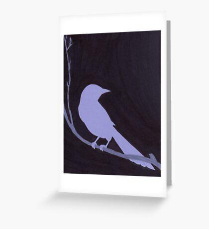 Night Bird Greeting Card