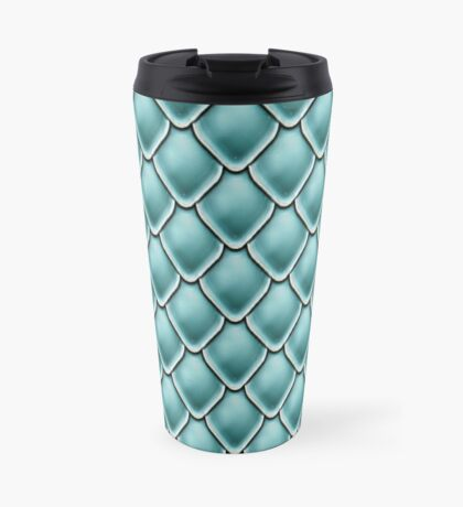 Green Scale Pattern Travel Mug