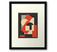 Geometrical abstract art deco mash-up 1 Framed Print