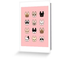 Frenchies Family  Greeting Card