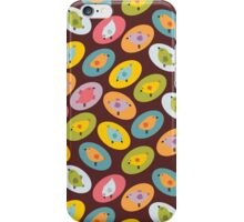 Retro birds. iPhone Case/Skin