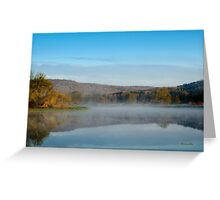 Mirror on Tranquil Lake Landscape Greeting Card