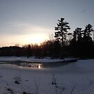 O&#x27;Hara Mills Conservation Area - Sunset by Les Wazny