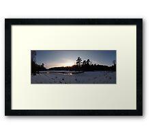O'Hara Mills Conservation Area - Sunset Framed Print
