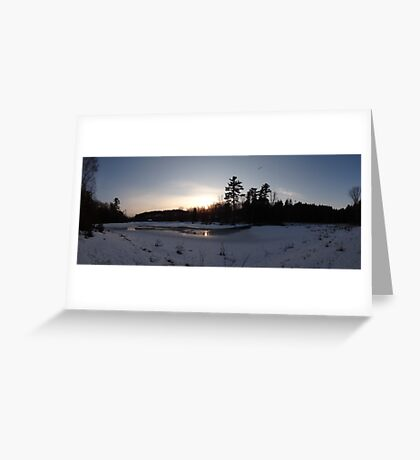 O'Hara Mills Conservation Area - Sunset Greeting Card