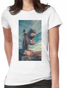Funny Horse Womens Fitted T-Shirt