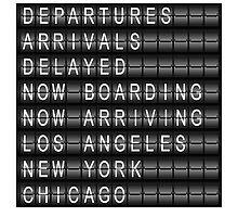 Departures, Arrivals, Delayed... Photographic Print