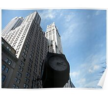 Classic Clock, Woolworth Building, Lower Manhattan Poster