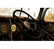 If you let go of the wheel..... Photographic Print